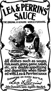 Lea & Perrins avisannonse fra 1900