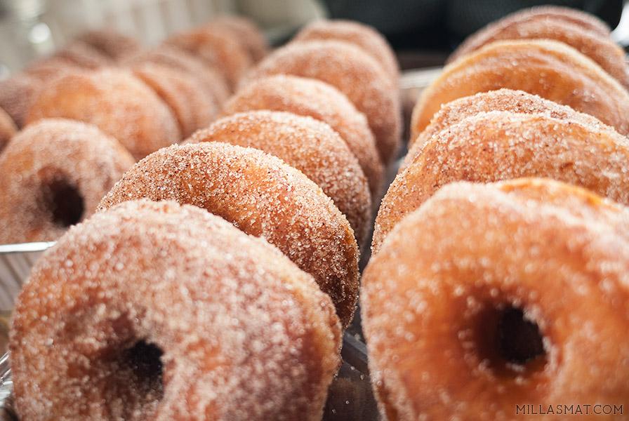 Amerikanske donuts med ekte vanilje