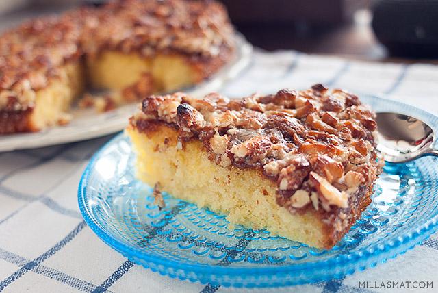 Toscakake :: italiensk kaffekake med mandelkrokan