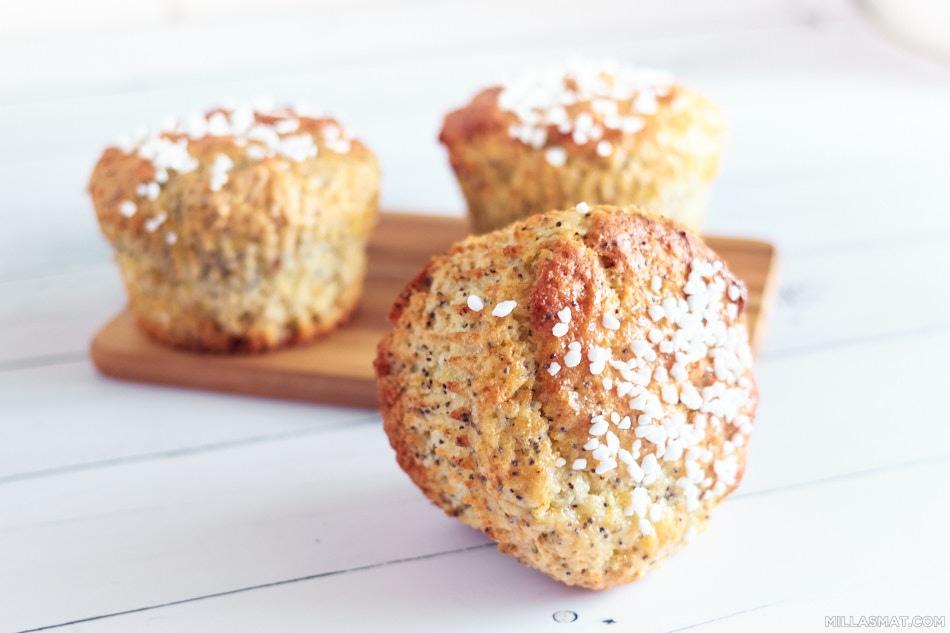 Cupcakes med sitron og valmuefrø