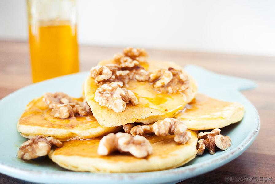Arabiske dessertpannekaker med appelsinblomstsirup