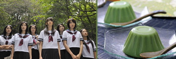 Grønn te gelé