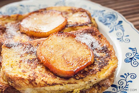 German french toast med epler
