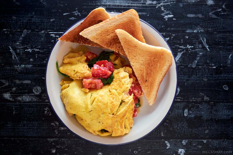 Gresk omelett «Nighthawk»