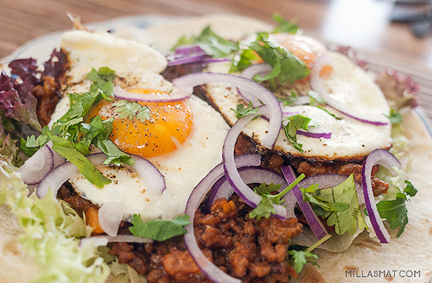 Ranch-style eggs
