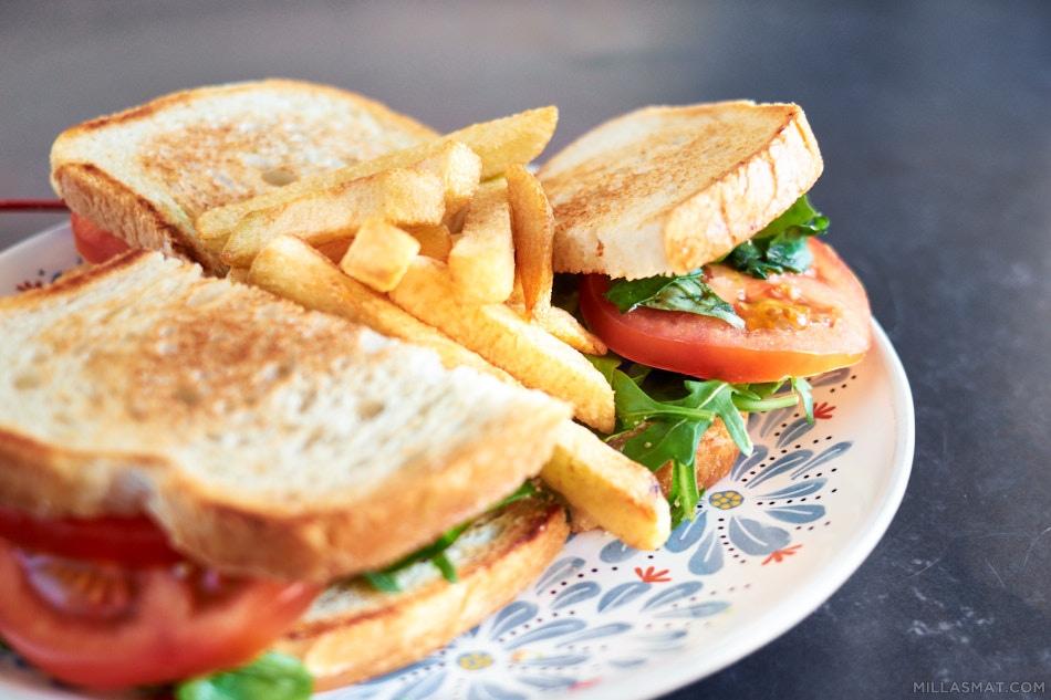 Roc Agel Vegetar Sandwich med fries