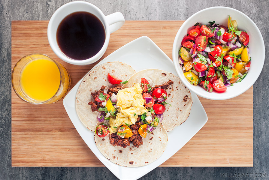 Sin City Breakfast tacos
