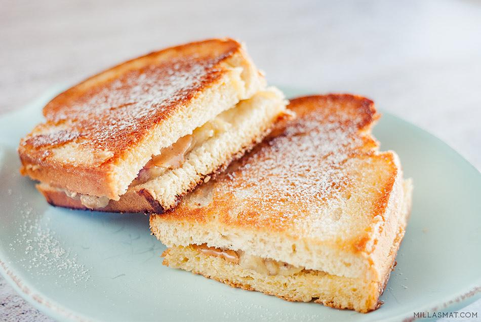 Elvis berømte banana & peanutbutter sandwich
