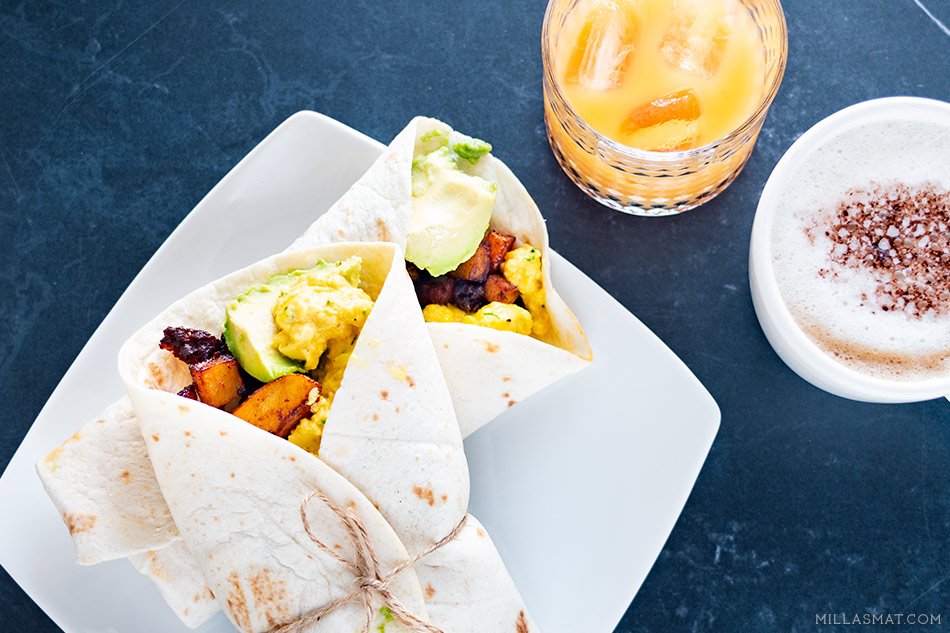 Whirlybird breakfast wraps