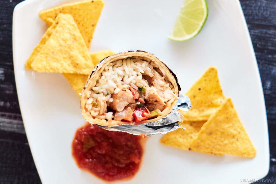 The Arroz con Pollo Burrito