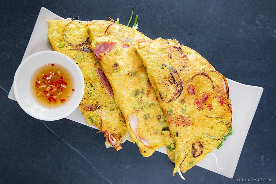 Bánh Xèo :: vietnamesiske fylte crêpes