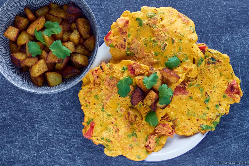 Besan ka Cheela :: spicy kikertpannekaker
