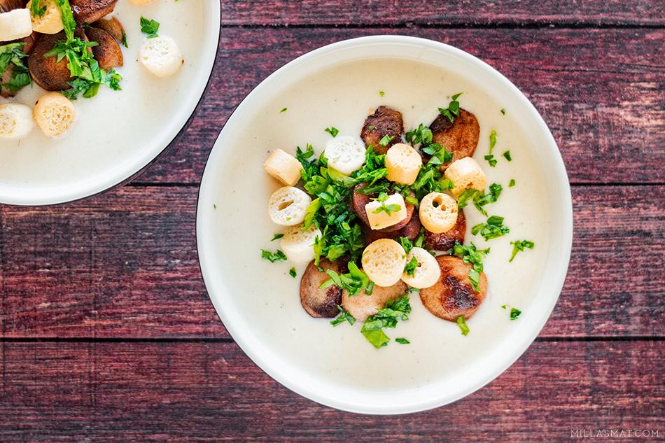 Blomkålsuppe med potet og løk fra Gordon Ramsay