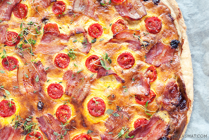 BLT-pizza