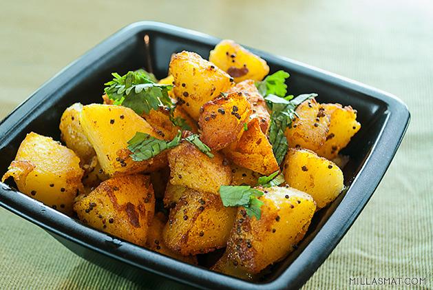 Bombay - poteter med hele sennepsfrø