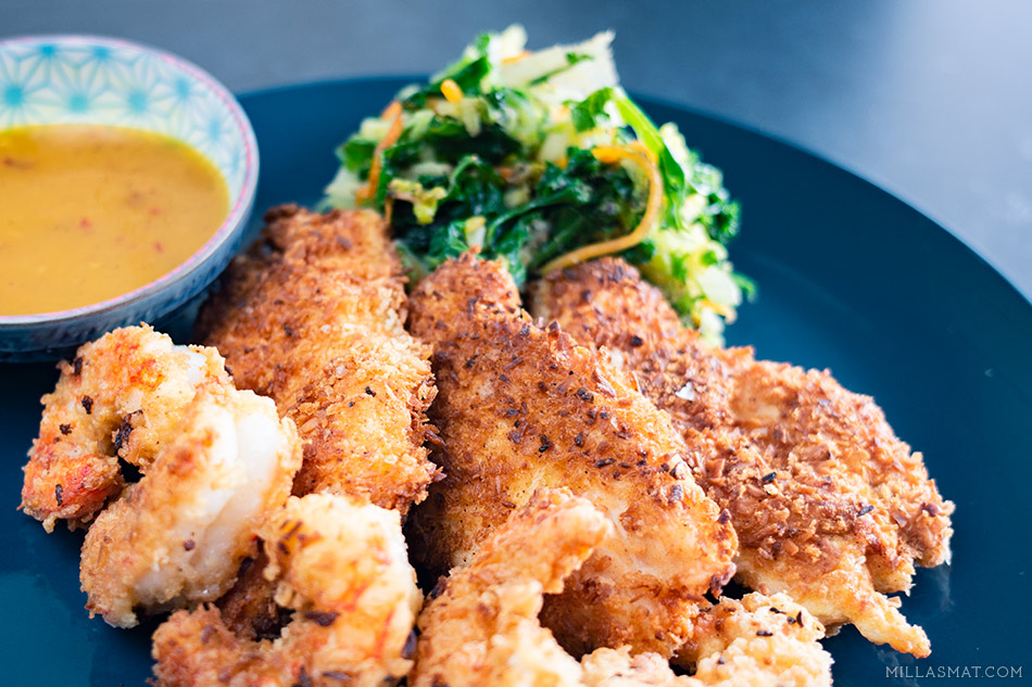 Crispy Coconut Chicken n' Shrimp