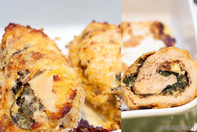 Cordon Bleu kylling med pommes boulangère