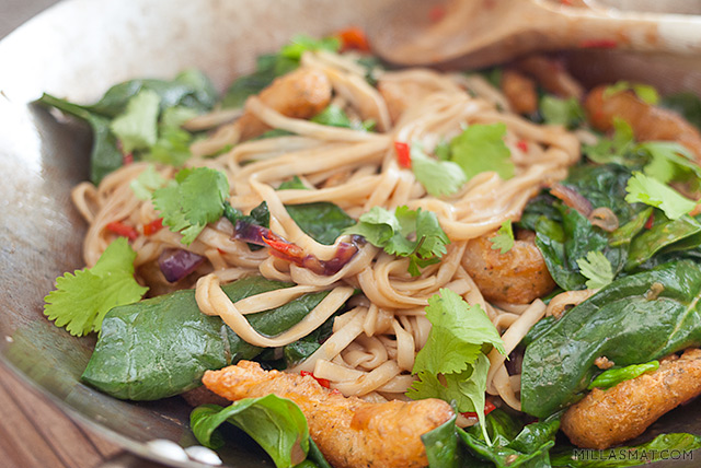 Crispy Teriyakireker i wok