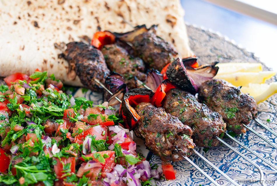 Damascus Gate kebab med Lavash & persillesalat