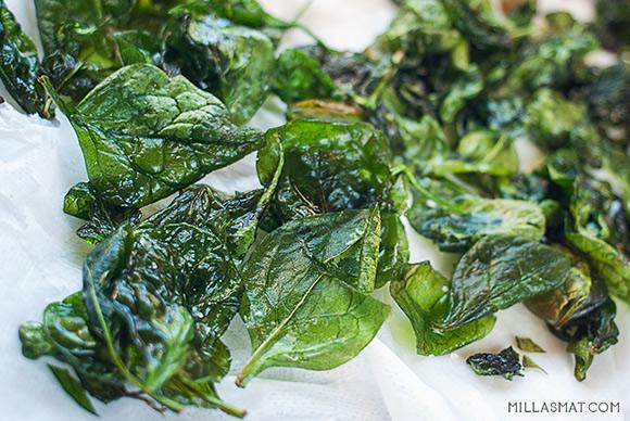 Fritert spinat