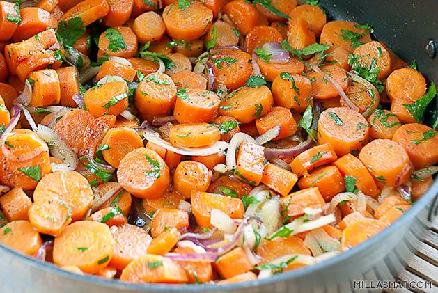 Glaserte gulrøtter