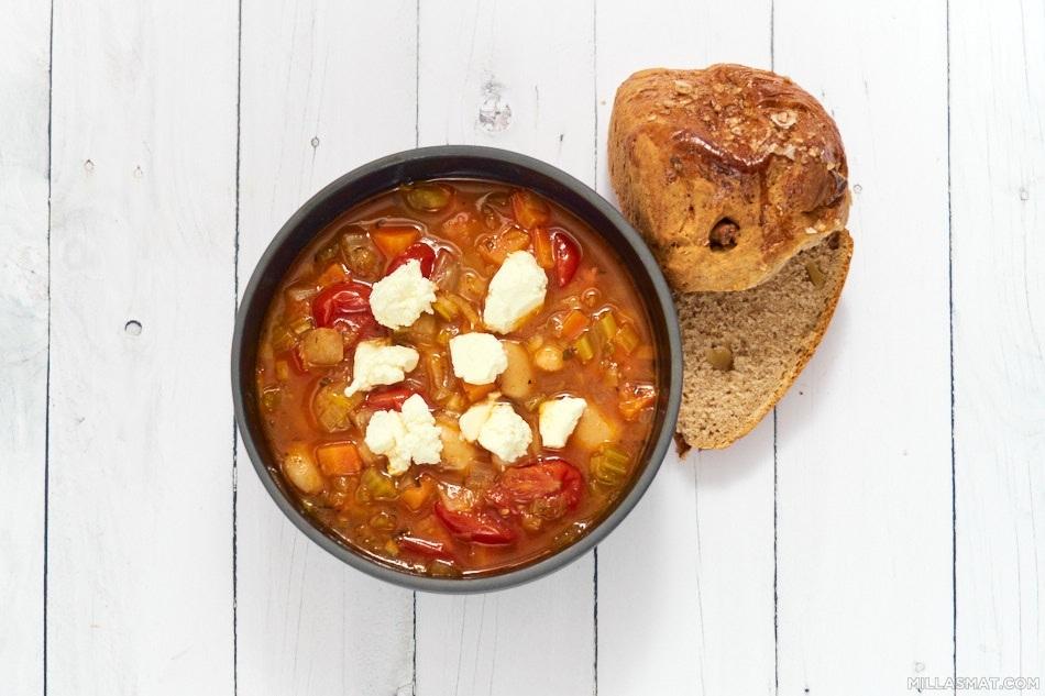 Gresk minestronesuppe fra World Kitchen
