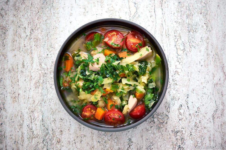 Grønn grønnsaksuppe