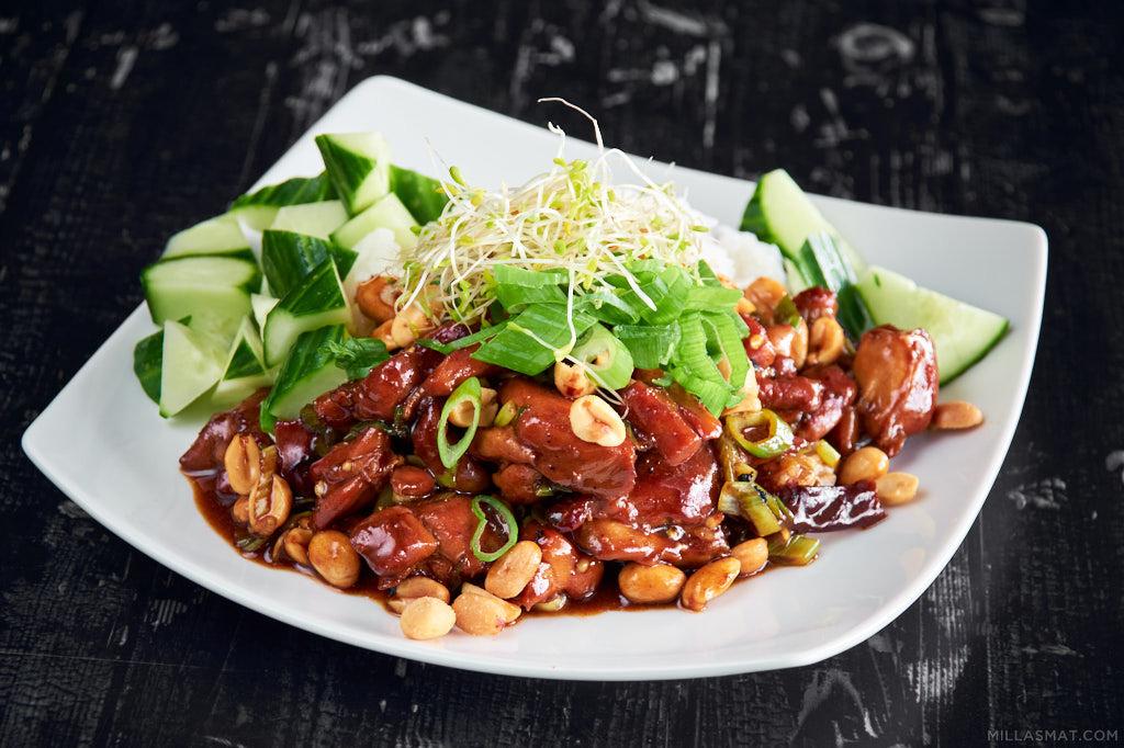 Gunpowder Chicken fra Szechuan :: hot kinesisk kylling med pepper