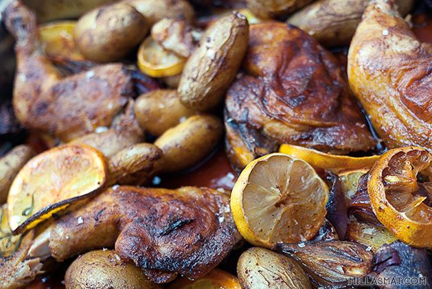 Iberisk kylling med appelsin og pimentón