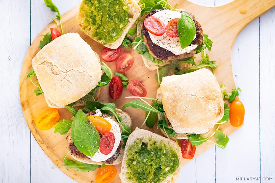 Il Tricolore Burger på Ciabattini :: italiensk burger