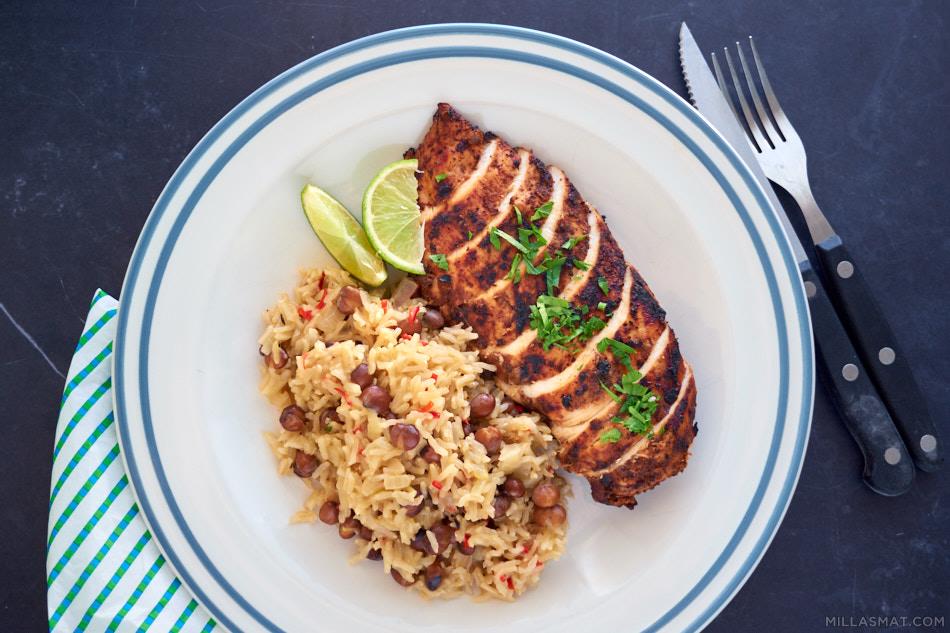 Jamaicansk jerkpit chicken