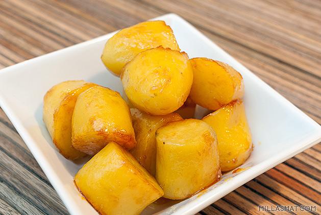 Karamelliserte poteter