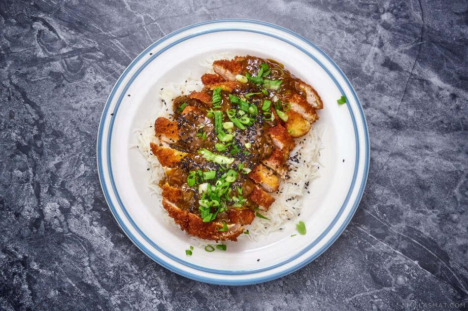 Katsucurry fra YO! Sushi