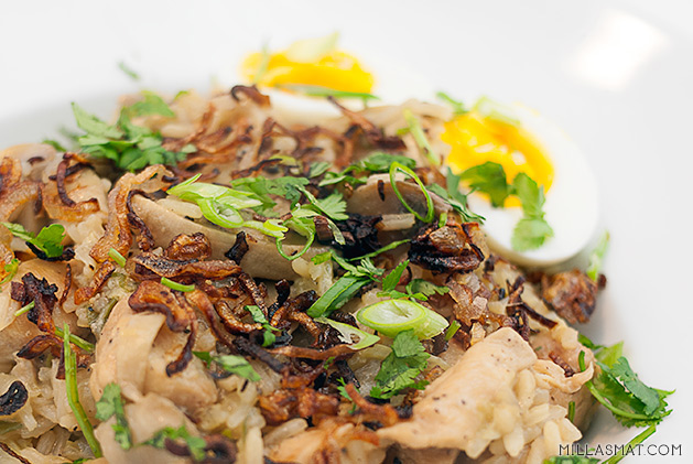 Koreansk dampet kyllingris
