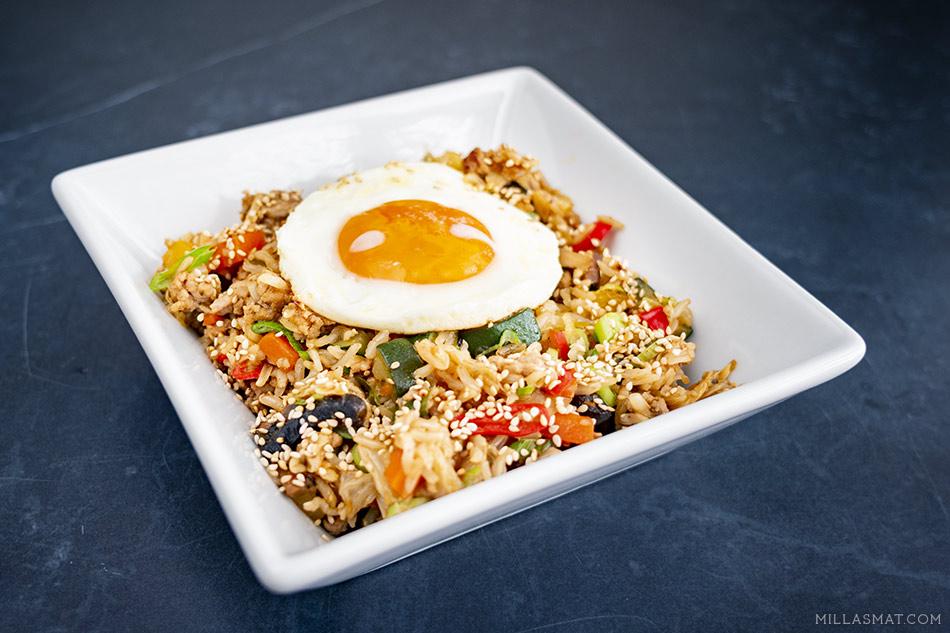 Koreansk stekt ris
