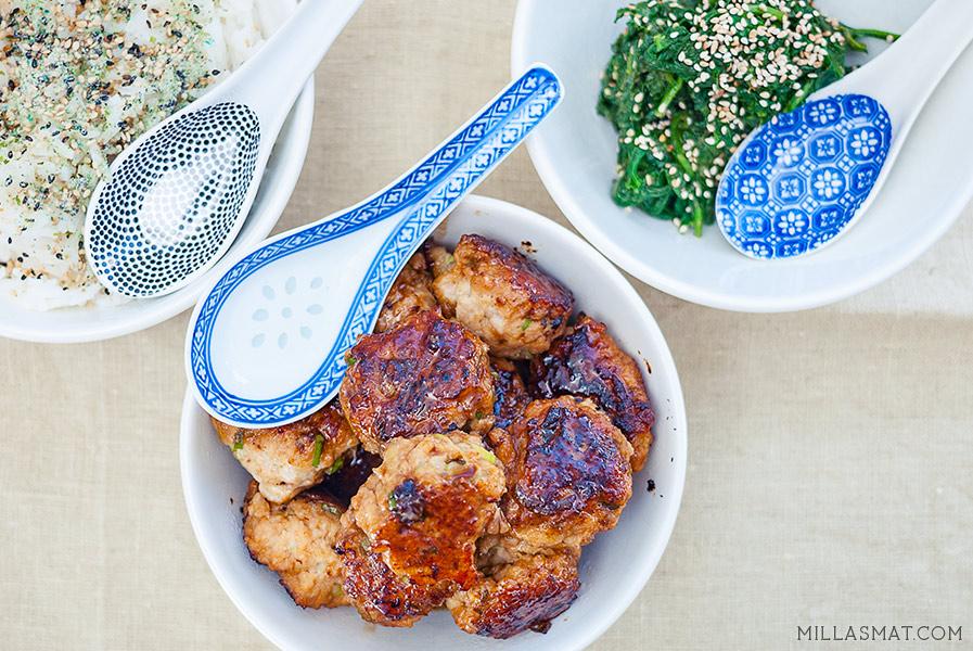 kyllingboller-sesamspinat