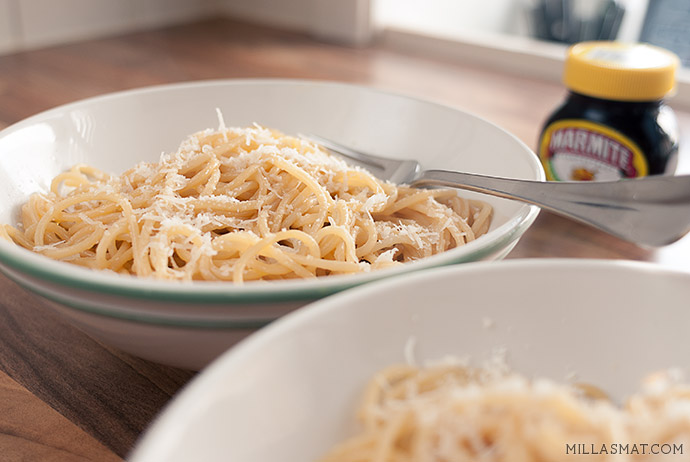 Spaghetti med Marmite