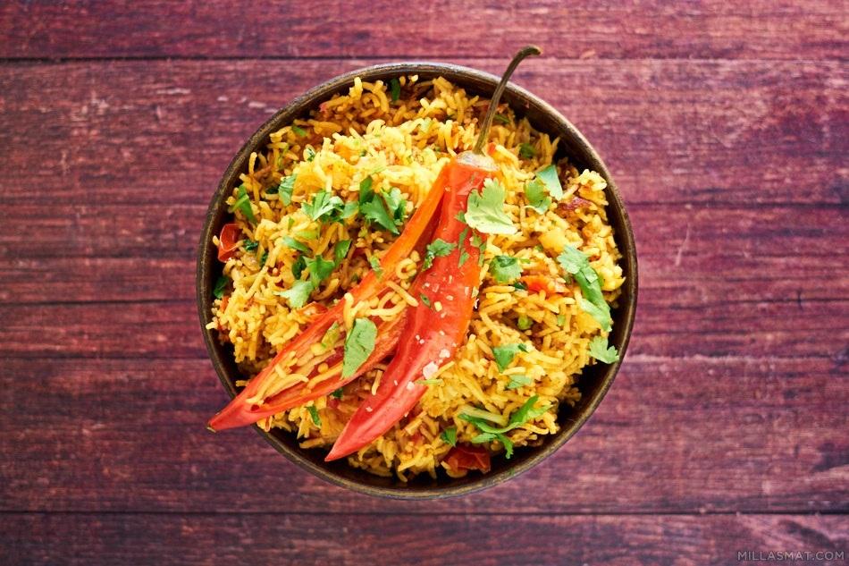 Mexicansk ris med spisskumin og chili