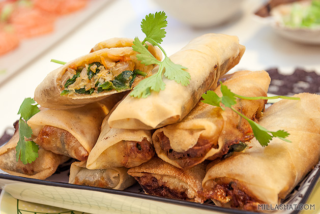Millas thaichin vårruller