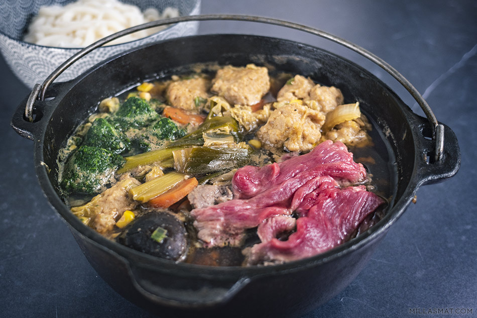 Nabe :: japansk hot pot med udon なべ物