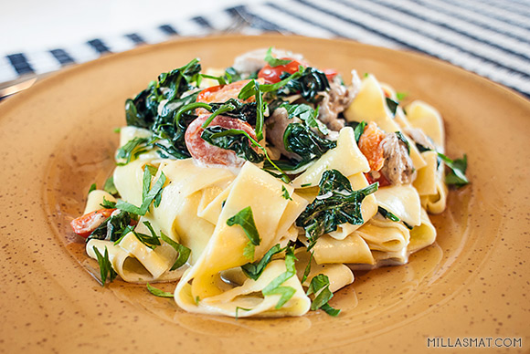 pappardelle-kylling-spinat
