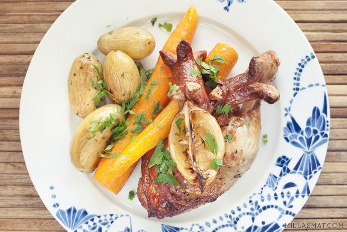 Parisisk Onepan bake med sitron og hvitløk