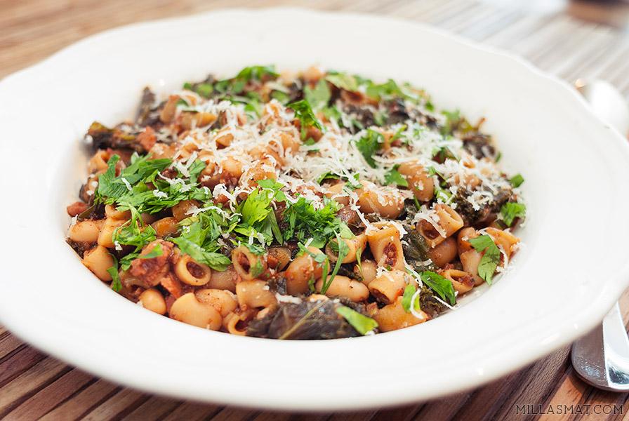 Pasta Fazool :: pasta med bønner og kjøtt