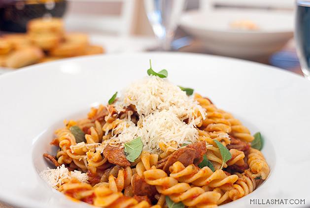 Pepperoni pasta con Carmela