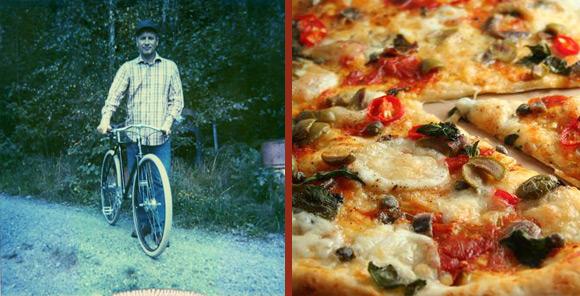 Pizza Martin ::pepperoni, sopp og ansjos