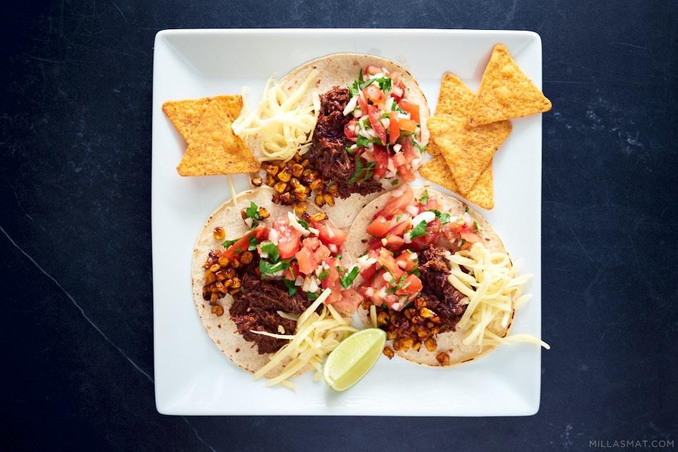Pulled Beef Tacos - el taco de carne