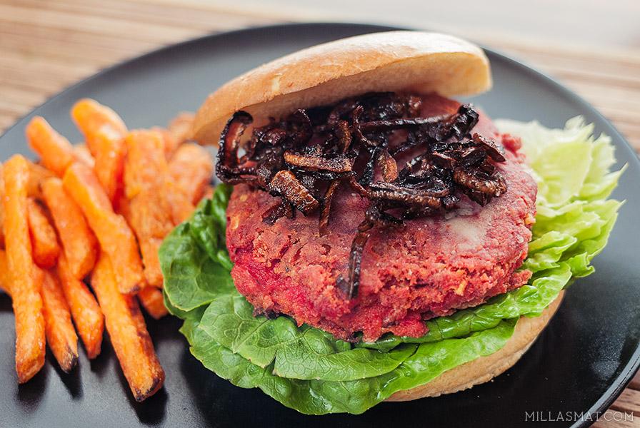 rodbete-og-kikertburger