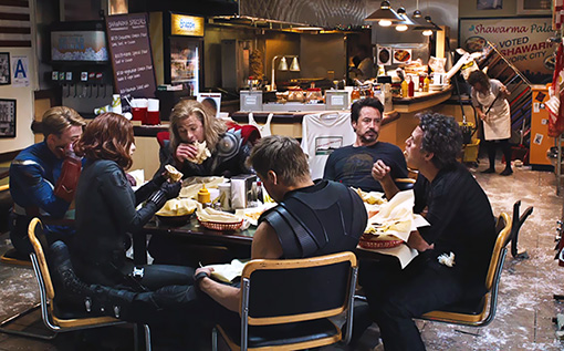 The Avengers må også ha mat, og Iron Man ville ha Shawarma