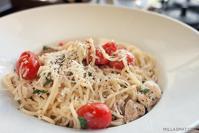 spaghetti-hvitloeksaus