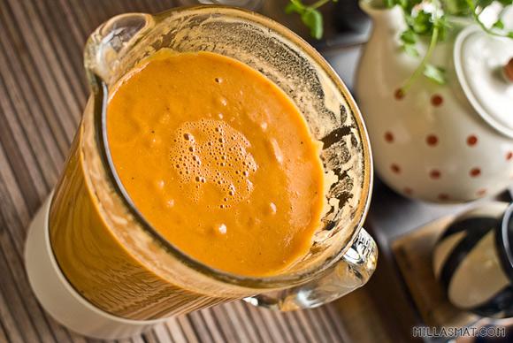 Tomat og rød linsesuppe